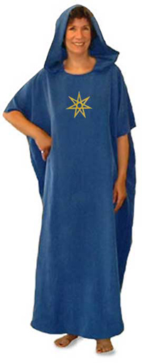 Seven Pointed Star Hooded Caftan